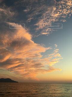 風景,海,空,夕日,夕焼け,夕暮れ,夕方,静岡,沼津,千本浜