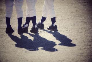 スポーツ,影,野球,ユニフォーム,仲間,グラウンド,少年野球