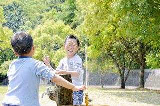 公園,夏,屋外,子供,樹木,水しぶき,人物,水遊び,男の子,みどり,兄弟,水浴び,熱中症対策