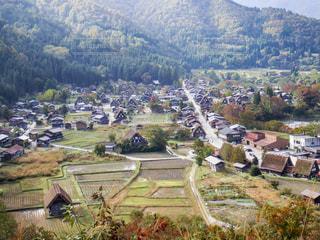 展望台から見た白川郷の写真・画像素材[1415136]