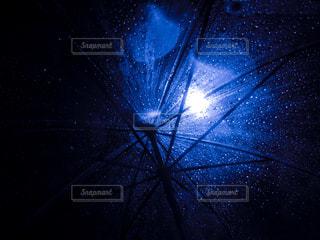 ビニール傘からの見た夜空の写真・画像素材[2110569]