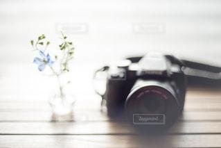 花とカメラのある暮らしの写真・画像素材[2982009]