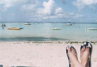 浜辺でのんびりの写真・画像素材[3475299]