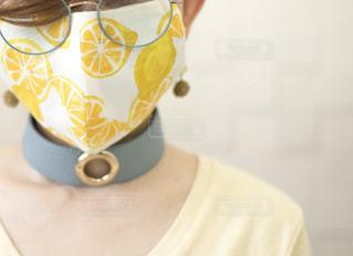 夏マスクの写真・画像素材[3561038]
