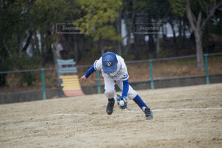 少年野球の練習風景の写真・画像素材[3803952]