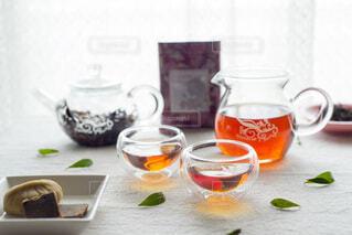 台湾茶でリラックスタイムの写真・画像素材[3855055]