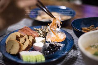 お皿の上のお節料理の写真・画像素材[4032816]