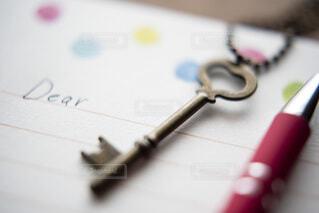 手紙を書く準備の写真・画像素材[4037245]