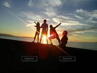 空,夕日,屋外,夕暮れ,景色,フォトジェニック,色・表現