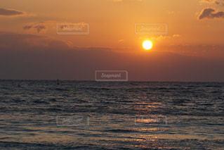 海,空,夕日,夕焼け,夕陽,白良浜