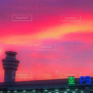 夕日,羽田空港,夕焼