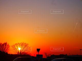 自然,夕暮れ,夕陽,茨城県,夕日が綺麗