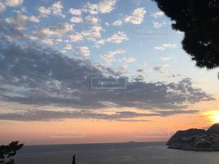 空,公園,夕日,雲,幻想的,オレンジ,クロアチア,ドゥブロヴニク,コントラスト,貸切,迷子,キレイ,贅沢な時間