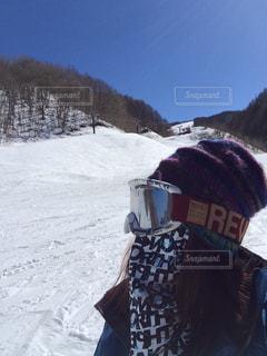 青空,晴天,雪山,山,ゲレンデ,スノーボード,貸切,独り占め,ウインタースポーツ,ウインター