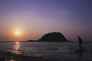 海,空,夕日,太陽,夕焼け,夕暮れ,福岡,サンセット,日暮れ,シーカヤック,志賀島