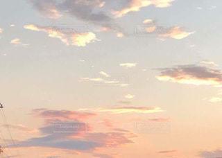 空,雲,夕暮れ