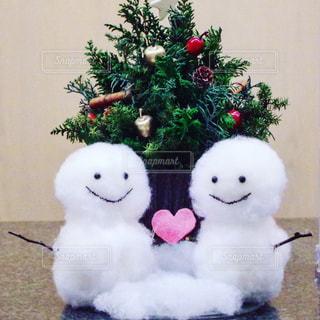 冬,雪だるま,コーデ,ホワイト