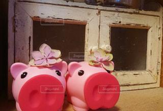 小さなピンクのおもちゃの写真・画像素材[1795968]
