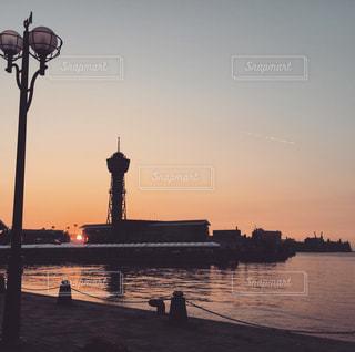 海,空,灯台,夕陽,sunset,Sky,sea,博多湾