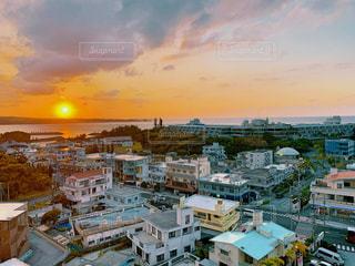 風景,空,建物,太陽,南国,夕暮れ,沖縄,光,夕陽,バカンス,南の島,東シナ海