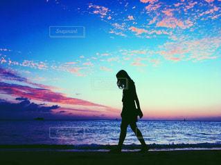 海,空,ハワイ,サンセット,ライフスタイル,ワイキキビーチ,インスタ映え,ハワイ生活,ピンクスカイ