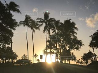 海,空,夏,夕日,ビーチ,夕焼け,ハワイ,サンセット,ライフスタイル,ワイキキビーチ,フォトジェニック,インスタ映え,ハワイ生活