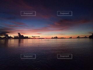 海,夏,夕日,太陽,ビーチ,夕暮れ,景色,パーム