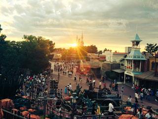 空,夕日,ディズニー