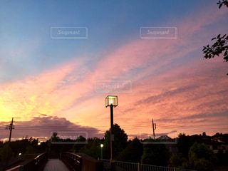空,屋外,ピンク,夕焼け,明るい