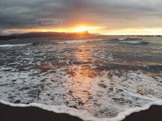 海,空,夏,夕日,ビーチ,雲,砂浜,夕焼け,夕暮れ,海岸,北海道,小樽,サンセット