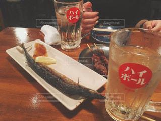 秋,お酒,ビール,居酒屋,秋刀魚,ハイボール,食欲の秋,秋刀魚の塩焼き