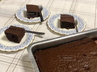食べ物,ケーキ,デザート,テーブル,皿,チョコレート,チョコレートケーキ,手作り,お家カフェ,アフタヌーンティー
