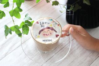 コーヒー,コーヒータイム,カフェオレ,ネスカフェ,フォトラテ,子ども似顔絵,幸せコーヒー,嬉しいコーヒー