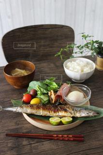 食欲の秋!秋刀魚プレートの写真・画像素材[1462994]