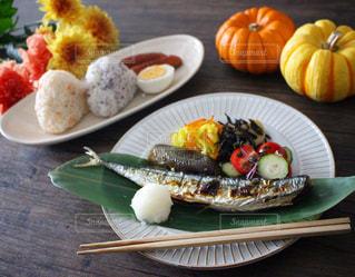 秋の秋刀魚ごはん...♪*゚の写真・画像素材[1463368]