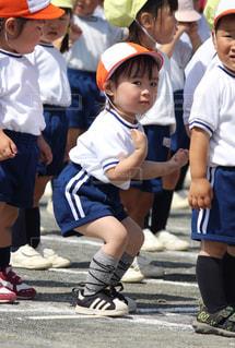 末っ子はじめての運動会の写真・画像素材[1508873]