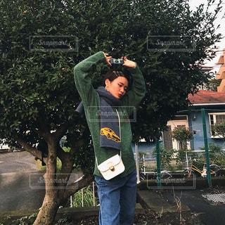 先日の長女秋コーデの写真・画像素材[1581401]