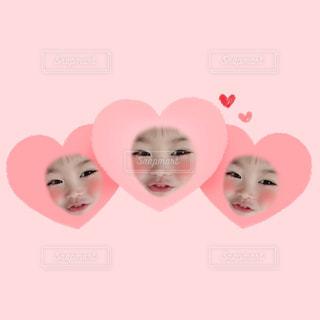 ピンク,女の子,ハート,末っ子,3歳