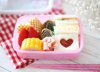 ピンク,ハート,サンドイッチ,ハートサンドイッチ,ハートお弁当