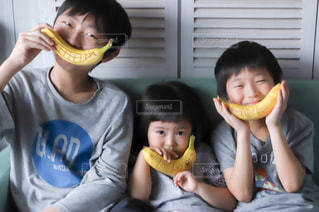 子ども,食べ物,デザート,幼児,おいしい,少年,banana,バナナ,fight,Stayhome,おうちじかん,DoleBananaSmile