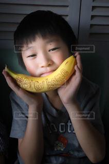 食べ物,デザート,果物,人,おいしい,少年,banana,バナナ,Stayhome,おうちじかん,DoleBananaSmile