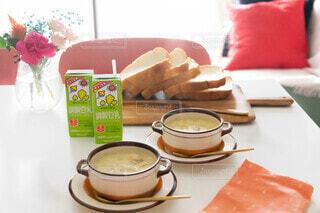 本当に美味しかった😋♥︎豆乳クラムチャウダー!!!!!の写真・画像素材[3795554]