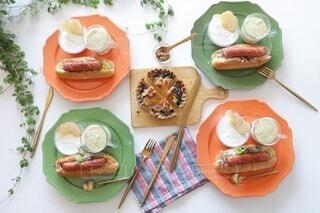 食べ物,食事,朝食,ワンプレート,昼食,食品,料理,朝ごはん,モーニング,ホットドッグ,ワンプレートごはん,朝ごパン,ジョンソンヴィル,johnsonville