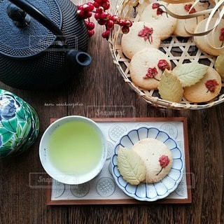 緑茶でホッコリ ティータイムの写真・画像素材[2992179]
