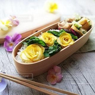 ズッキーニ薔薇のお弁当の写真・画像素材[3124741]