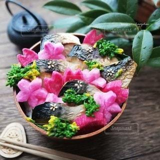 鮮やか焼き鯖弁当の写真・画像素材[3124753]