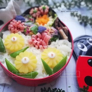 てんとう虫のお弁当の写真・画像素材[3124751]
