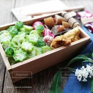 グリーンたっぷり 夏野菜弁当の写真・画像素材[3642785]