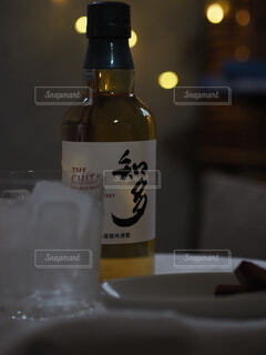 インテリア,夜,お酒,ボトル,ウイスキー,晩酌,自分時間,ハーフボトる,ちょっとしたご褒美,ウイスキーがお好きでしょ,チタ