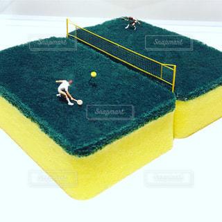 スポンジテニスコートの写真・画像素材[1292889]